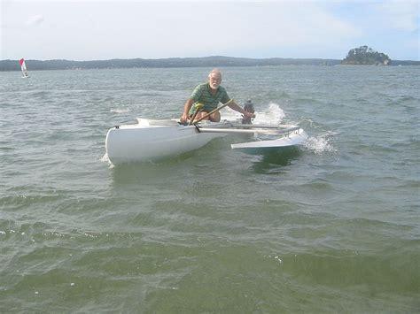 catamaran dory hull project windrigger