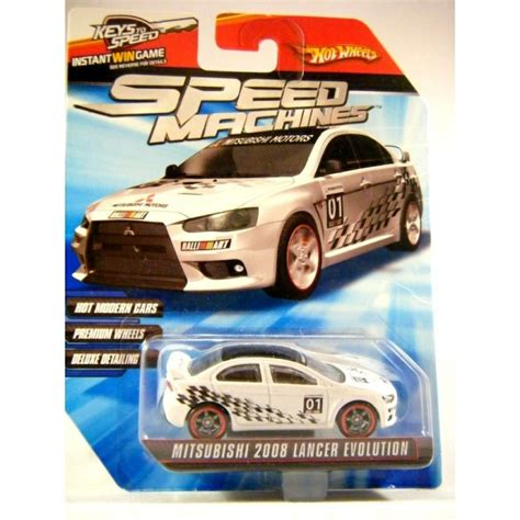Hotwheels Lancer Evolution 2008 wheels speed machines 2008 mitsubishi lancer evolution global diecast direct