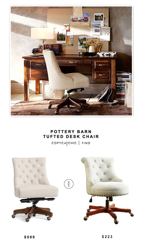 Pottery Barn Office Chair by Pottery Barn Tufted Desk Chair Copycatchic