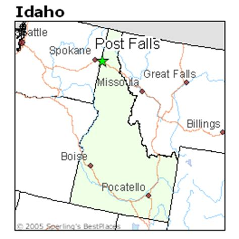 best places to live in post falls, idaho