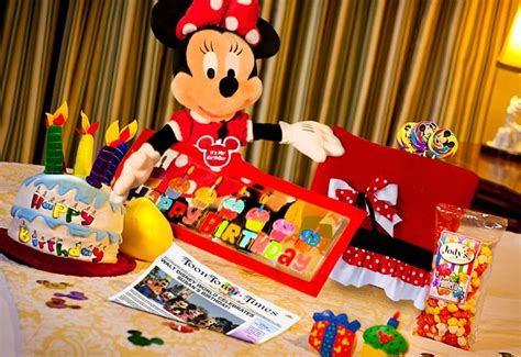 disney in room celebrations new disney world birthday celebration in room gifts available