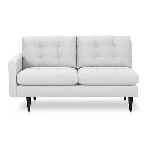 crate and barrel petrie sectional petrie left arm loveseat graphite crate and barrel