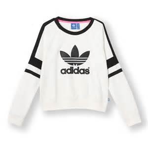 Girls Flower Bedding - adidas originals 2014 q3 women logo crew sweater shirt