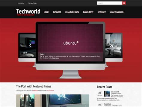 free wordpress themes computer technology techworld free wordpress theme