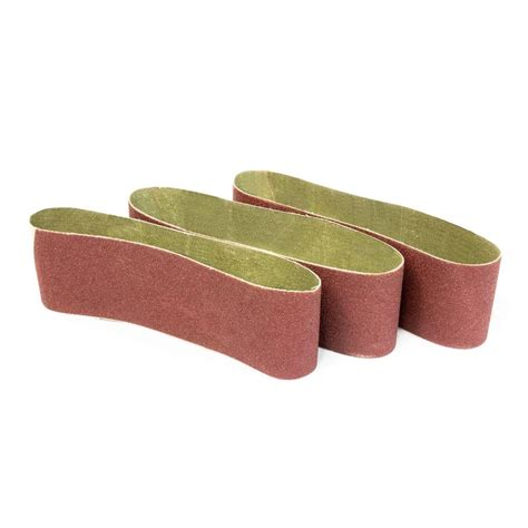 wen 3 in x 21 in 120 grit belt sander sandpaper 3 pack