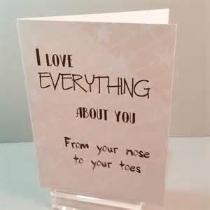i love everything about you greeting card handmade card