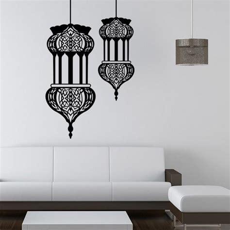 halloween islamic lantern wall stickers muslim pattern art