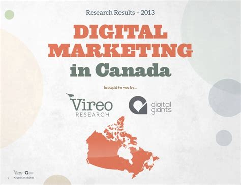 Mba In Digital Marketing In Canada by 2013 Digital Marketing In Canada Research Report