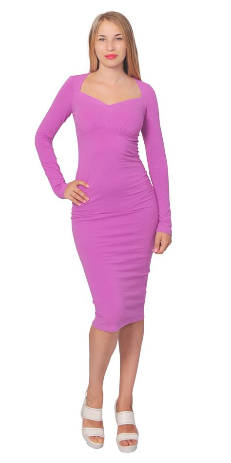 Slim Fit Bodycon Dress vintage bodycon slim fit sweetheart neck