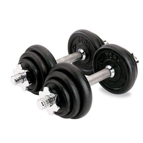 Dumbell Set york 20kg black cast iron dumbbell set