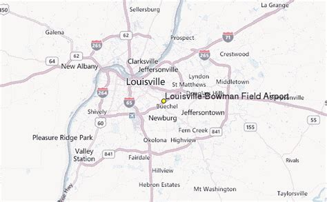 kentucky map airports louisville bowman field airport weather station record