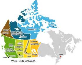 Western Canada Map by West Canada Map