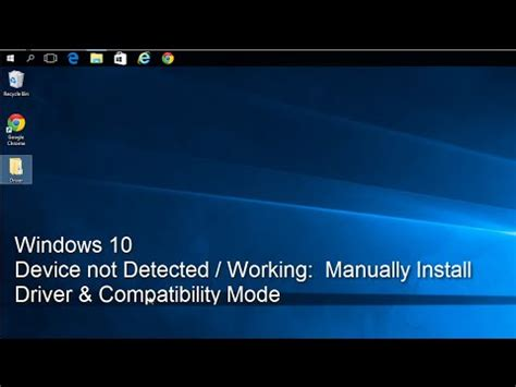 xp setup not working windows 10 device not detected or working manually