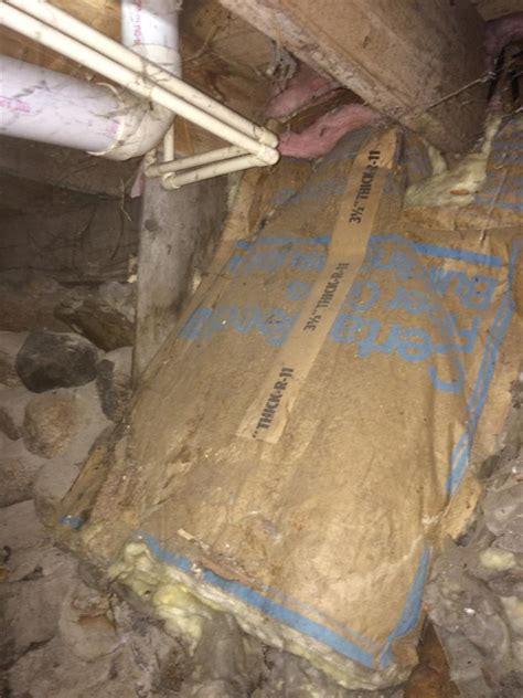 basement crawl space insulation inefficient fiberglass insulation in crawl space