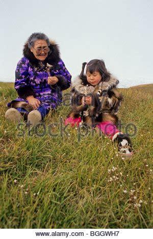 alaska. barrow. inupiat eskimos wearing traditional parkas