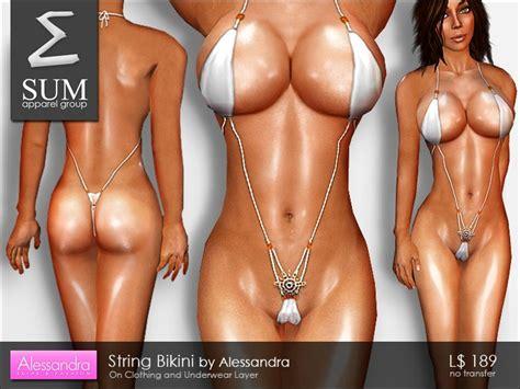 Lesbian string bikini