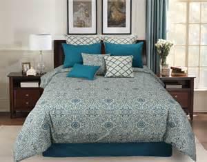 King Size Bedding Teal Hallmart Gemma 6pc King Size Teal Comforter Cover Bedding Set