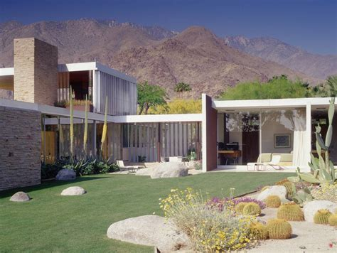 Home Plans With Interior Photos by The Richard Neutra Kaufmann House