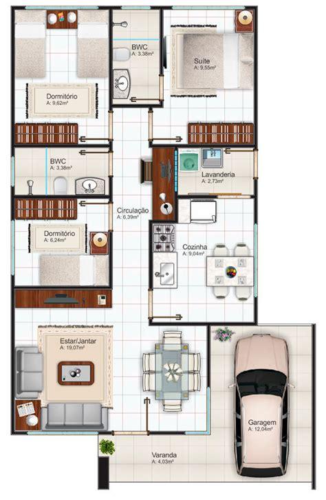 Small Modular Home Floor Plans by Casa Terrea Com 2 Quartos E 1 Suite Plantas De Casas