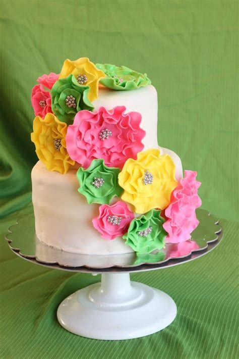 Pink And Yellow Baby Shower Cake by Pink Green And Yellow Baby Shower Cake Amazing Cake Ideas