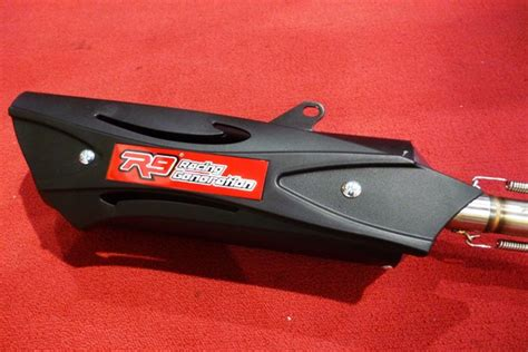 Knalpot Racing R9 Honda Vario Fi 125 150 Alpha Series Black Original pin honda vario pake knalpot r9 tiger revo buatan jember