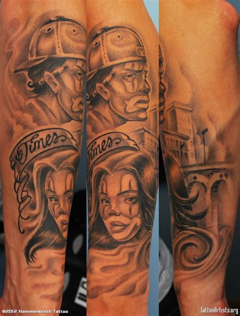 cholo tattoos the bend guide gangster clown designs