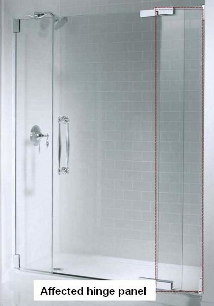 Hinged Glass Shower Doors Kohler Co Announces Recall Of Shower Doors Due To Laceration Hazard Cpsc Gov
