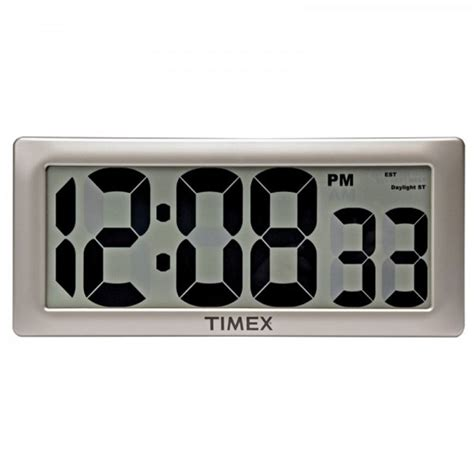 wall clock digital 75071t timex intelli time digital wall clock 13 5 quot extra