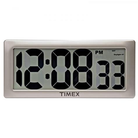 digital wall clock 75071t timex intelli time digital wall clock 13 5 quot
