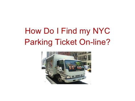How Do I Search For On By Email How Do I Find My Nyc Parking Ticket On Line