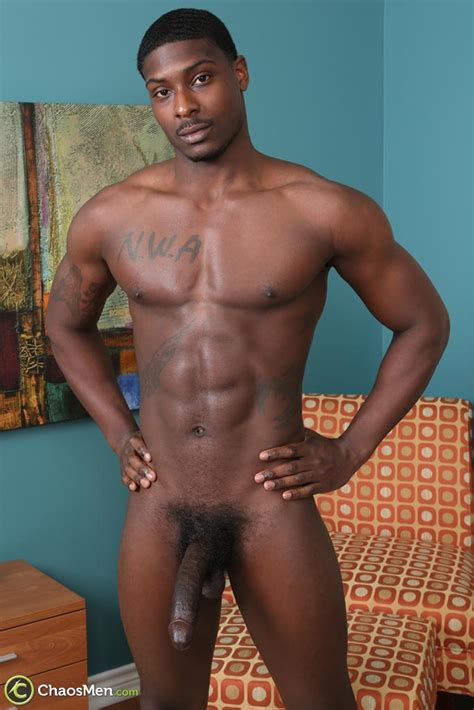 ethnic men smooth 9 inches black stud