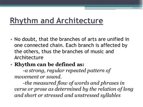 pattern rhythm definition rhythm in architecture
