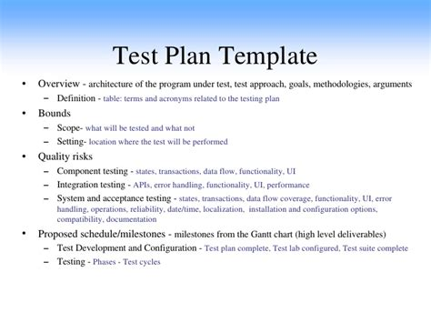 test plan sle images