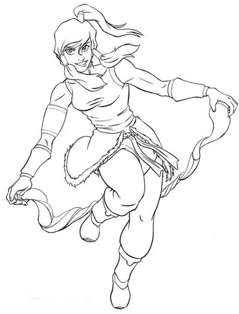 Avatar Coloring Pages by Avatar Korra Coloring Pages Anime Korra