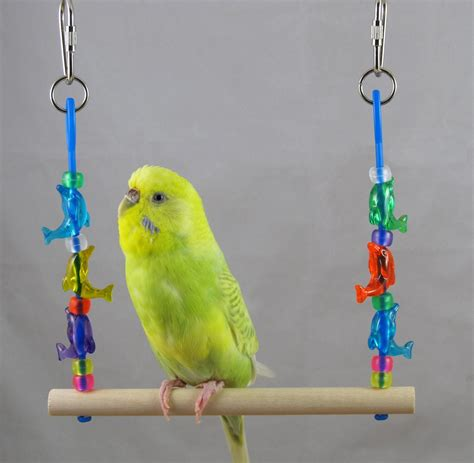 parakeet swing parakeet size dolphin swing for small birds by abeekatoy
