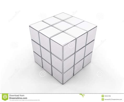 white cube rubik editorial image image of vintage silver 35254785