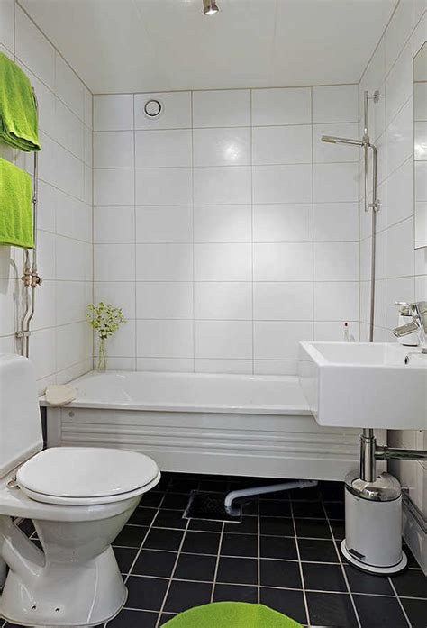 Small Black And White Bathroom Ideas by Square And Rectangular Tiles Charming White Small Bathroom