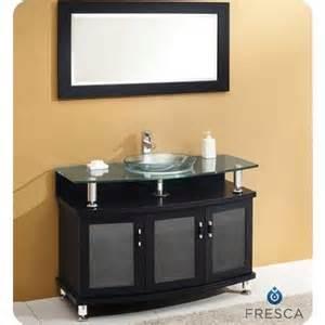 Sink Vanity Home Depot Canada Fresca Contento 43 Inch Espresso Modern Bathroom Vanity