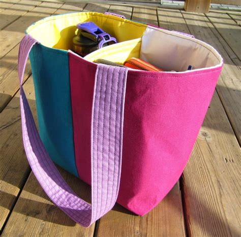 tote bag pattern with dividers sew sisters quilt shop kona club challenge divided tote