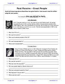 agatha christie biography text maze passives and past participles