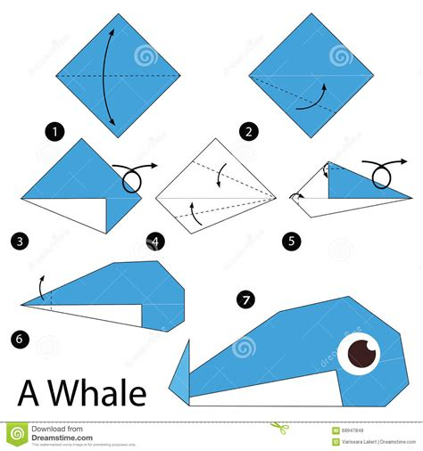 How To Make Origami Whale - step by step how to make origami a whale