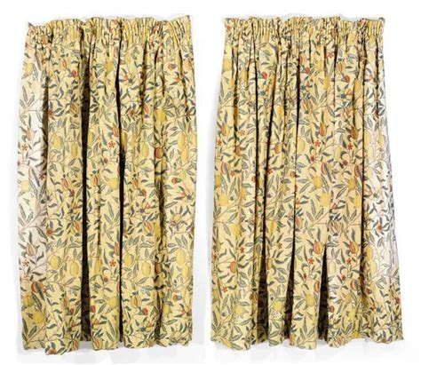 morris and co curtains two pairs of three quarter length curtains morris co