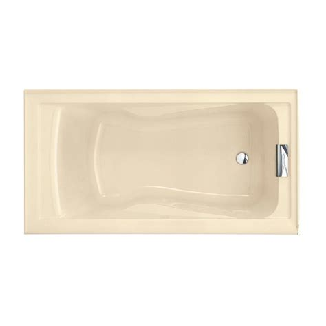 deep bathtubs home depot american standard evolution 5 ft reversible drain deep soaking tub in arctic 2422v002 011 the