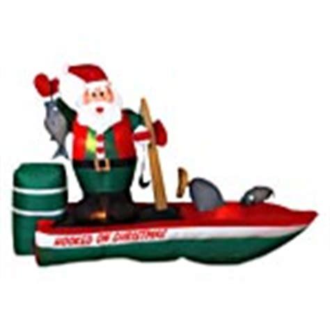 blow up santa in boat santa christmas inflatables santa claus christmas blowups