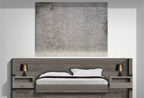 bed headboard with integrated bedside tables cgi bedroom