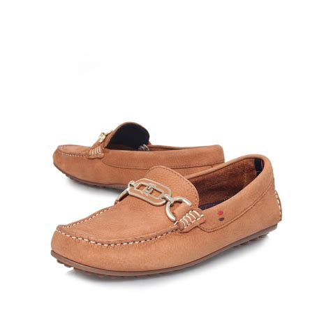 hilfiger shoes for hilfiger kendall 5n flat loafer shoes in brown for