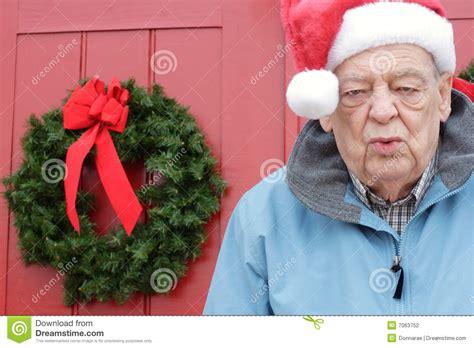 seniors christmas exhaustion stock photo image 7063752
