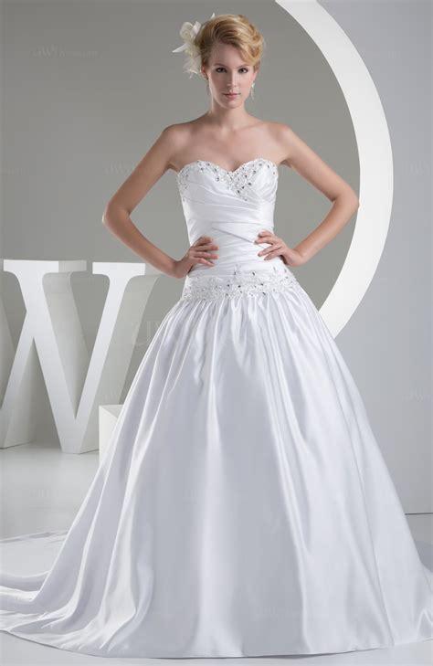 Wedding Dress Zipper by White Fairytale Church Sleeveless Zipper Satin Chapel