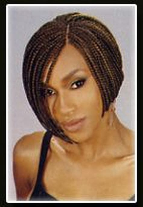 pics of a braided bob style with the back nape shaved single braid hairstyles