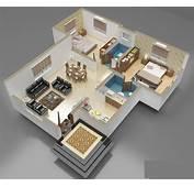 13 Denah 3D Apartemen Minimalis 2 Lantai 3 Kamar  RUMAH